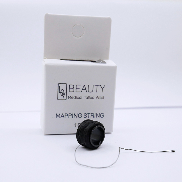 Microblading Pre-Inked Brow Mapping Strings pigment string PMU Accessories Brow Mapping Thread For Eyebrow for Permanent Makeup 2