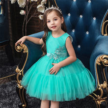 Flower Kids Baby Fancy Wedding Dress Little Princess Party Dress For Girl Lace Tutu Kids Clothes Children Dresses(China)