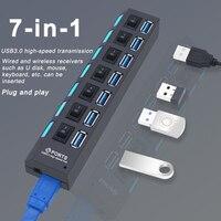 USB Hub 3,0 Hub USB 3 USB 2,0 Multi USB Splitter Power Adapter 4/7 Port Mehrere Expander 2,0 mit Schalter für PC Zubehör