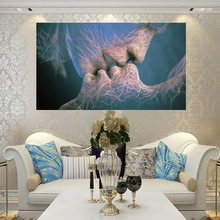 Пара Поцелуй высокой четкости картина маслом холст живопись