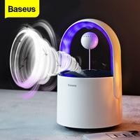 Baseus USB linterna luz UV lámpara antimosquitos eléctrica LED lámpara atrapa insectos Bug Zapper matar lámpara Anti repelente de mosquitos|Lámparas matamosquitos| |  -
