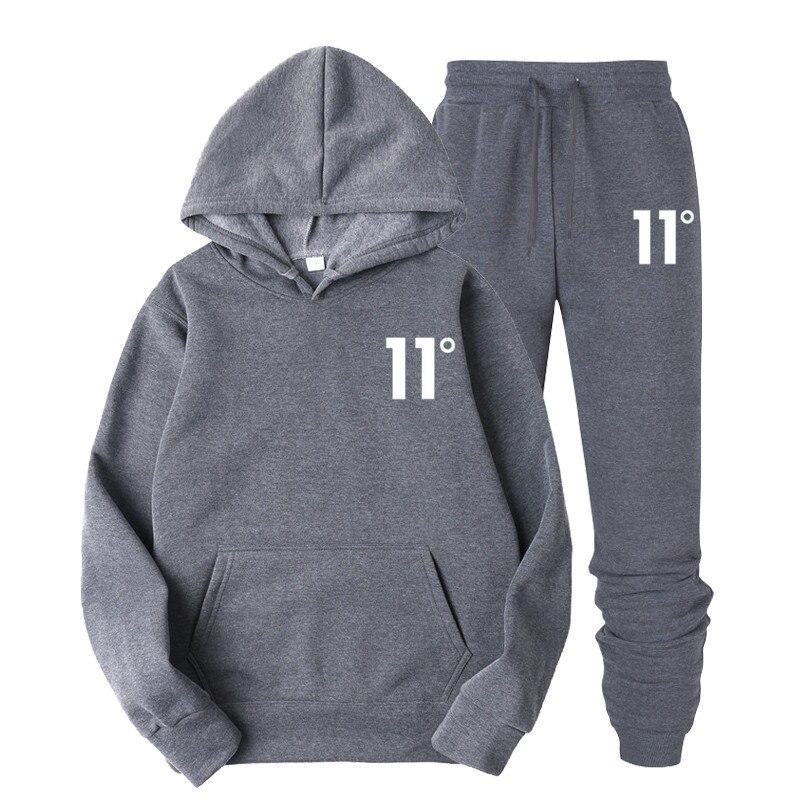 Print 11 Sportswear Tracksuit Sets Men Men Thermal Underwear Fleece Thick Hoodie+pants Malechandal Sporting Suit 2020 New Brand