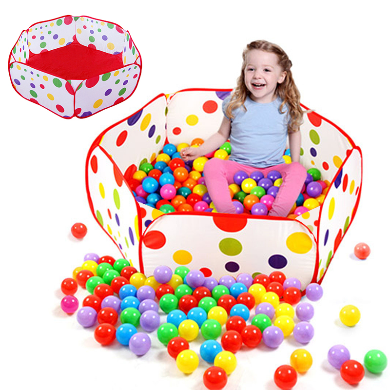Folding Indoor Ocean Ball Pool Cartoon Baby Playpen For Baby Pool Hexagon Kids Safety Barrier Game House Ball Pit For Kids