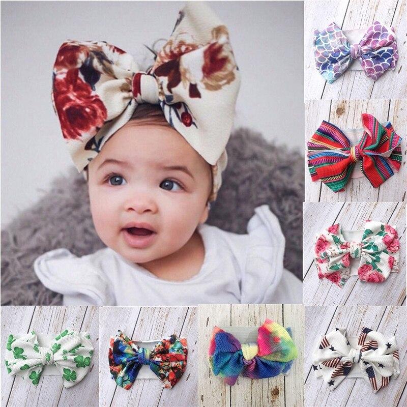 Baby  Girls Bow Hairband Turban Knot  Headband Girl Headwear Newborn Girl Turban Hairband