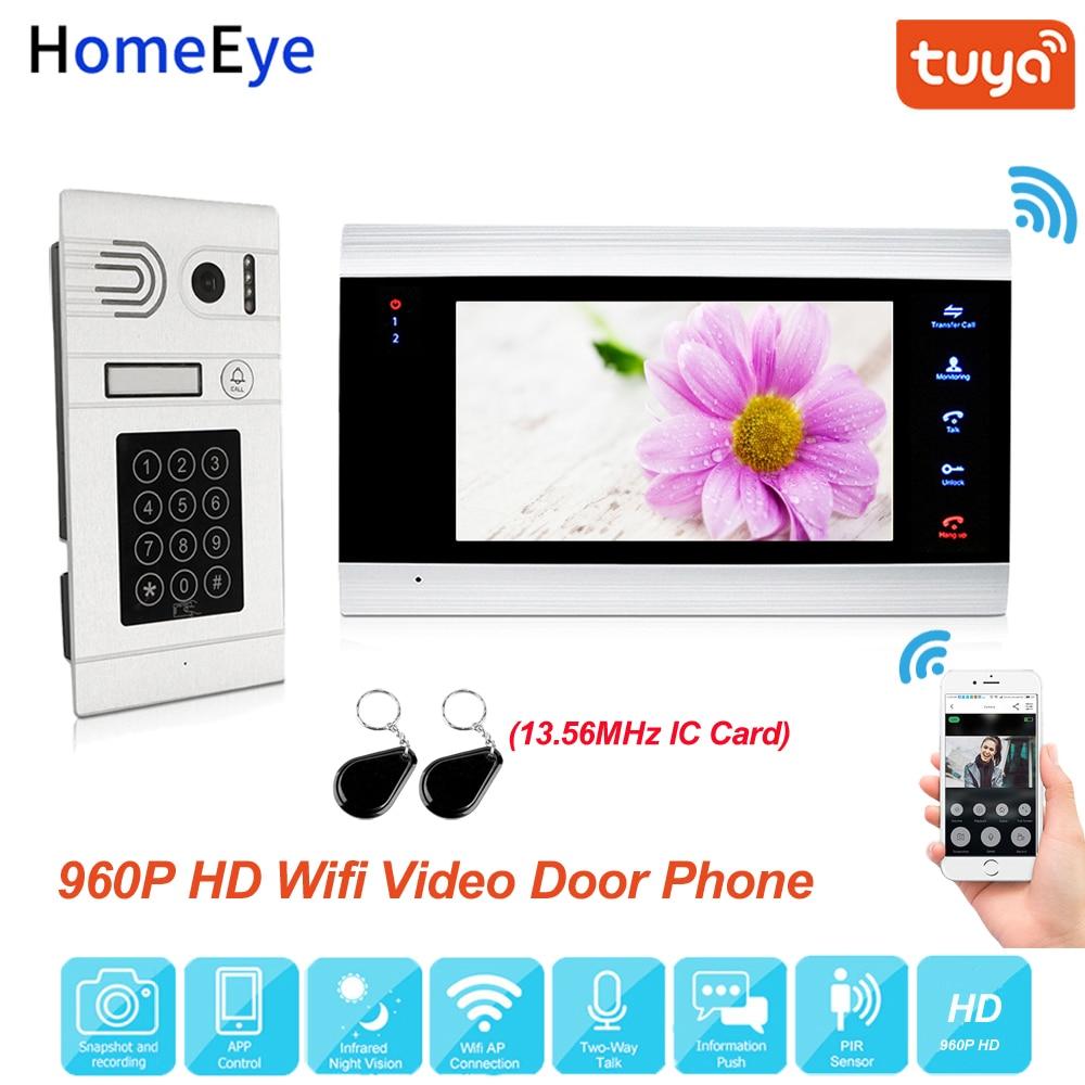 Tuya Amart Home App Remote Control WiFi IP Video Door Phone Video Intercom Access Control Motion Detection Code Keypad + IC Card
