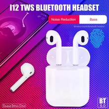 Robotcube i12 Bluetooth Earbuds Wireless Earphone TWS True Stereo With Mic Metal matte Touch Music Wireless Headphones(China)