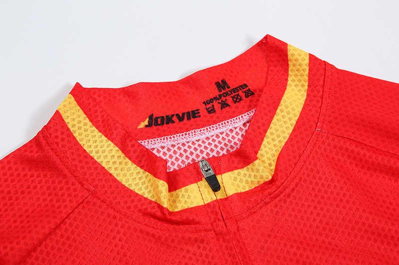 Camiseta de Ciclismo de España de manga corta Tops de verano de carreras de Ciclismo Ropa Ciclismo mtb camiseta de Jersey de bicicleta Maillot Ciclismo