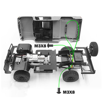 Aluminum Alloy Body Shell Rear Mount For 1/10 Rc Crawler Toy Cars 4WD TOYOTA 4RUNNER Body Match TF2 Chassis image