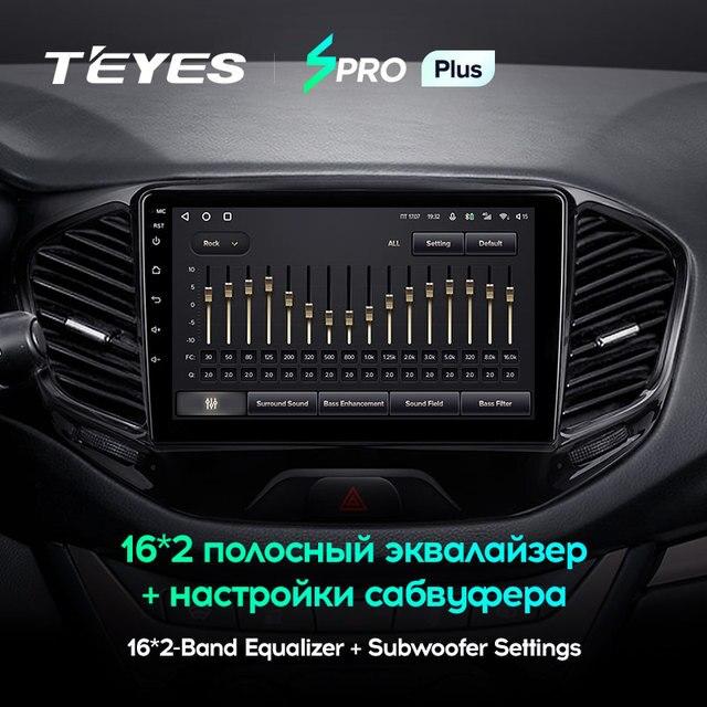 TEYES SPRO Plus Штатная магнитола For Лада ВАЗ Веста Кросс Спорт For LADA Vesta Cross Sport 2015 - 2020 Android 10 до 8-ЯДЕР до 6 + 128ГБ 2DIN автомагнитола 2 DIN DVD GPS мультимедиа автомобиля головное устройство 3
