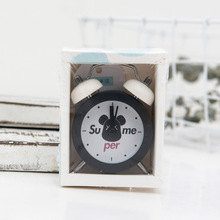 New Mini Alarm Clock Creative Metal Small Clocks 7.5 CM Electronic Student Test Carry Kids Gift