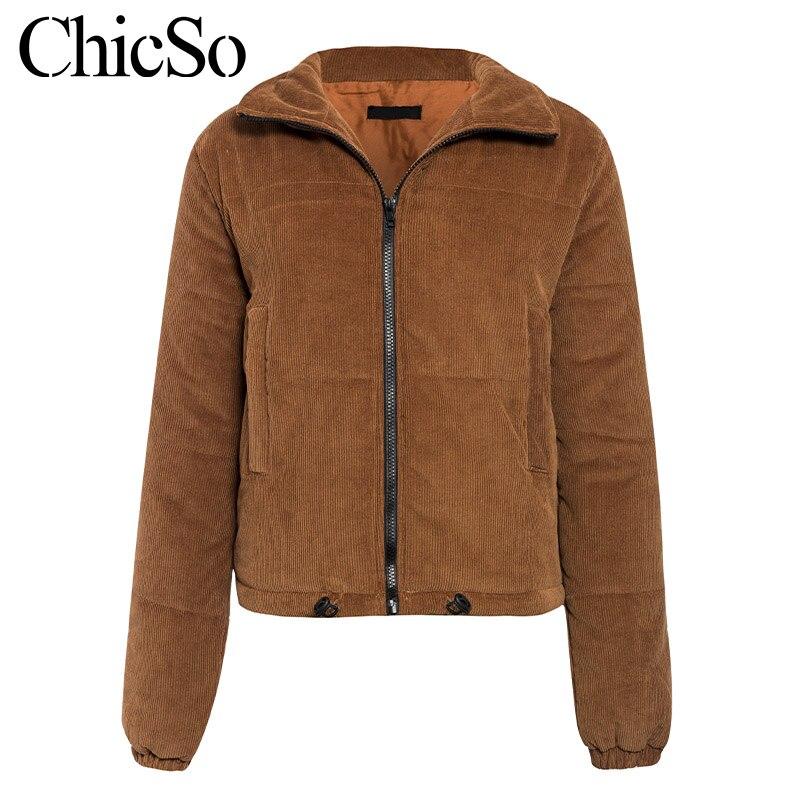 MissyChilli Casual down parka jacket women winter coat Female khaki streetwear short coat Snow wear warm corduroy outerwear new 11