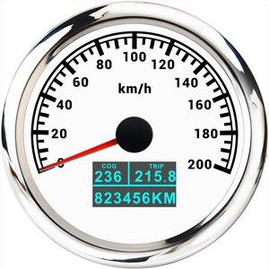 "Image 3 - מד מהירות GPS 3 ב 1 עם בורג טיול סה""כ קילומטראז 85MM LCD תצוגת מהירות מד מרחק Fit עבור רכב סירה ימי אופנוע 12V 24V"