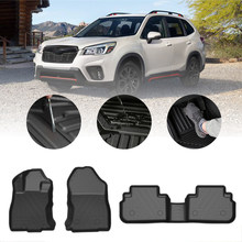 Car Floor Mats Carpet For Subaru Forester 2019 2020 5-Seat TPE Rubber Waterproof Non-Slip Fully Surrounded