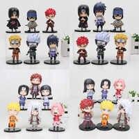 6 teile/satz 10cm Anime Naruto Uzumaki Naruto Sakura Kakashi Hinata collect PVC Action Figure Modell Spielzeug