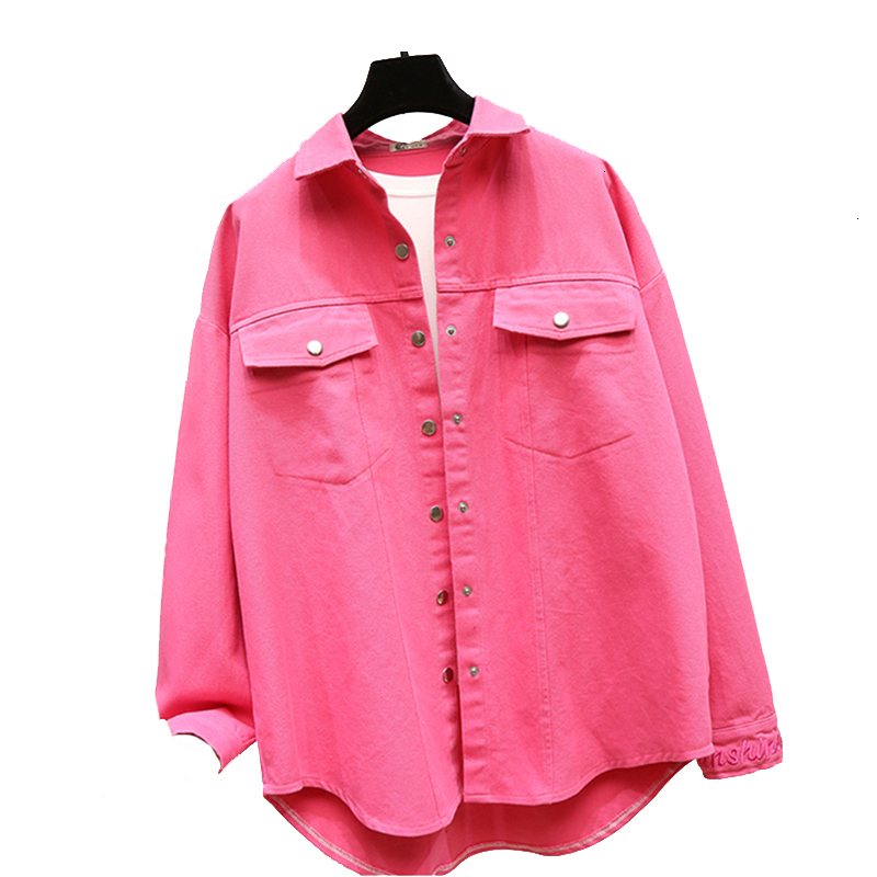 Fashion Women   Basic     Jacket   Denim   Jacket   Women's Embroidery Casual Jas Bright Color Women's Vintage Jeans Casual Overwear