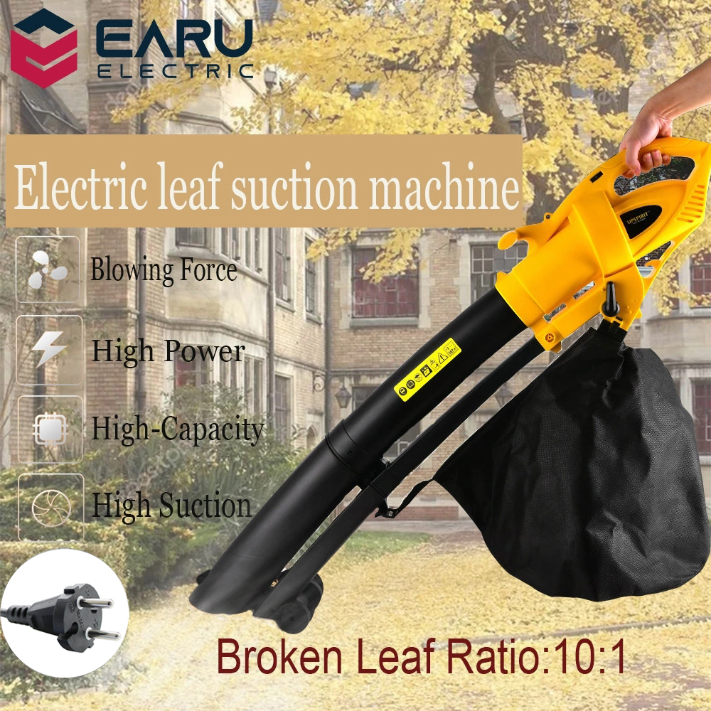 220V 3000W Electric Air Blower Fallen Tree Leaf Pulverizer Dust Collector Outdoor Garden Vacuum Clearner Blowing Suction Machine