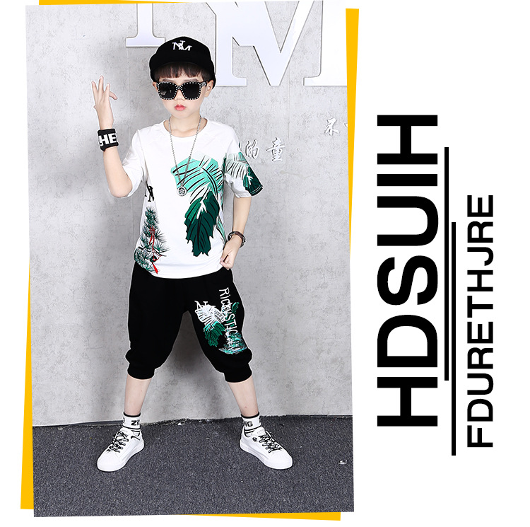 He6b88bbaa47247238bb8c60394c11476B - 2 Pcs Children Summer Clothes Set Boys T shirt + Pants Casual Sports Suits 6 8 10 12 13 14 Years Kids Clothing Casual Tracksuit