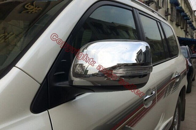 Garniture de moulage pour Toyota Land Cruiser   Accessoires de voiture en Chrome ABS, couverture de rétroviseur latéral, garniture de protection pour arrière 2016 2017 2018
