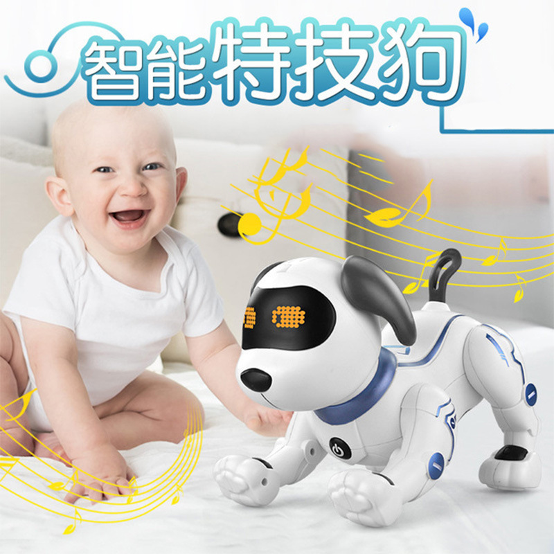 Music Can K16 Bionic Intelligent Robot Dog Electric Stand On His Head CHILDREN'S Toy Remote Control Robot Boy Toy