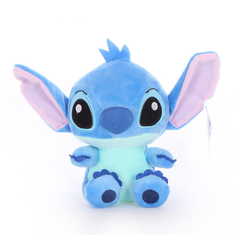 Front View of Blue Stitch Plush Toy