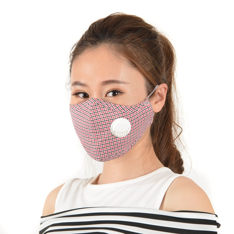 Washable Anti Air Pollution PM2.5 Cotton Face Masks Activated Carbon Filter Respirator Reusable Mouth-muffle Face Masks