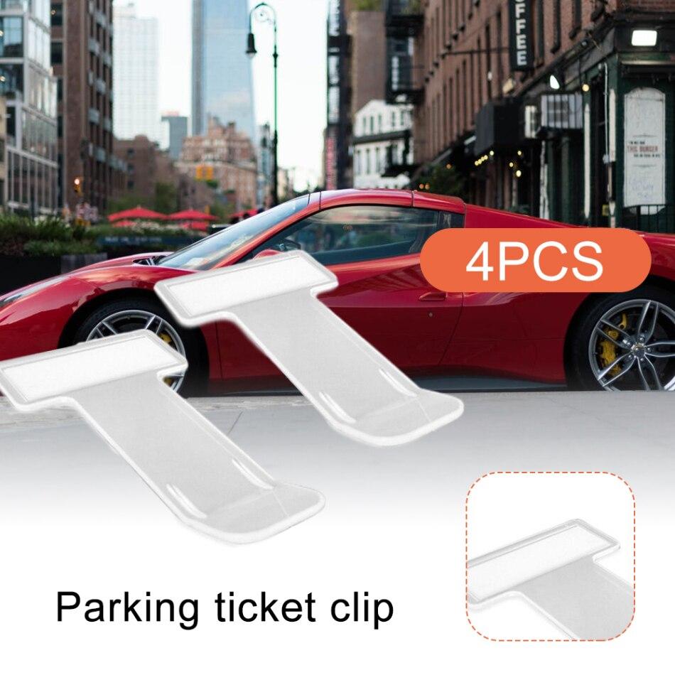 4 шт., автомобильный Стайлинг, зажим для парковочного билета, держатель для карт, органайзер, наклейки на лобовое стекло, автомобильный держа...