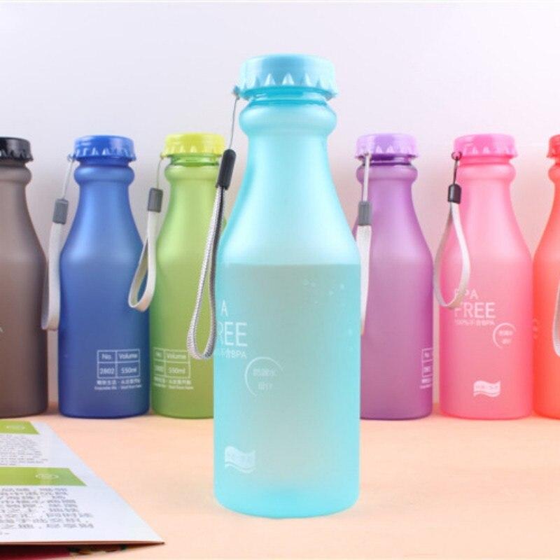 Muticolors небьющейся герметичной матовый пластиковый чайник 550ml BPA бесплатно портативный бутылка воды для Путешествия йога отдых