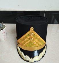 Preto chapéu superior drem equipe estudantes de estágio desempenho militar cosplay chapéus