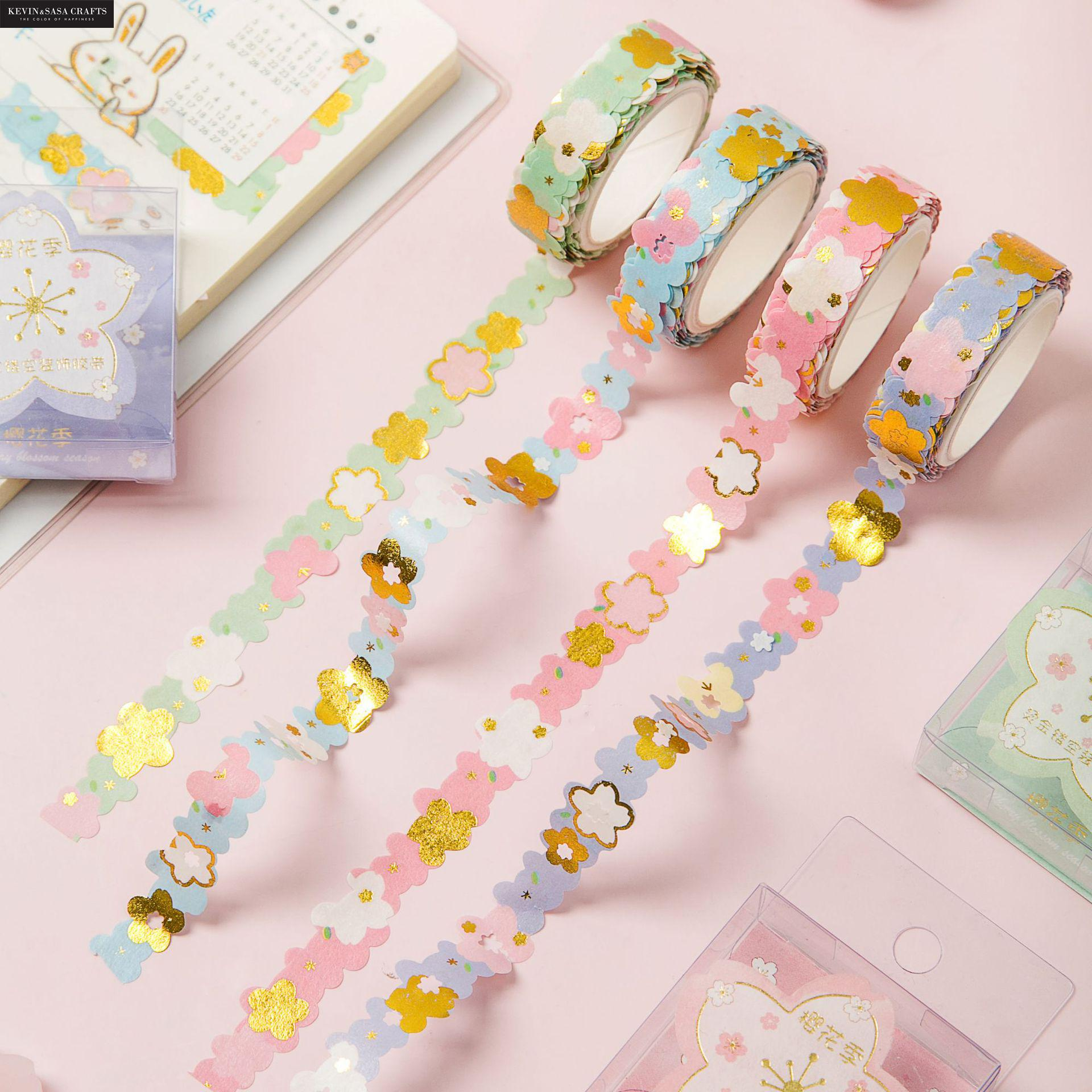 New Foil Washi Tape Flower Shape 2meter Length School Supplies Stationery Gift Back To School Presented By Kevin&Sasa Crafts