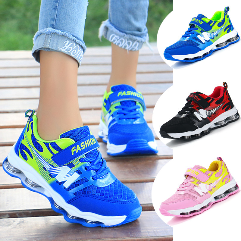 Spring Kids Shoes Children's Sports Shoes Stretch Sole Mesh Breathable Boys Girls Sneakers School Students Tennis Running Shoes
