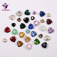 YANRUO 4706 Trilliant Fancy Glass Stones DIY Strass Pointback Ornaments Crafts Diamonds For Clothes