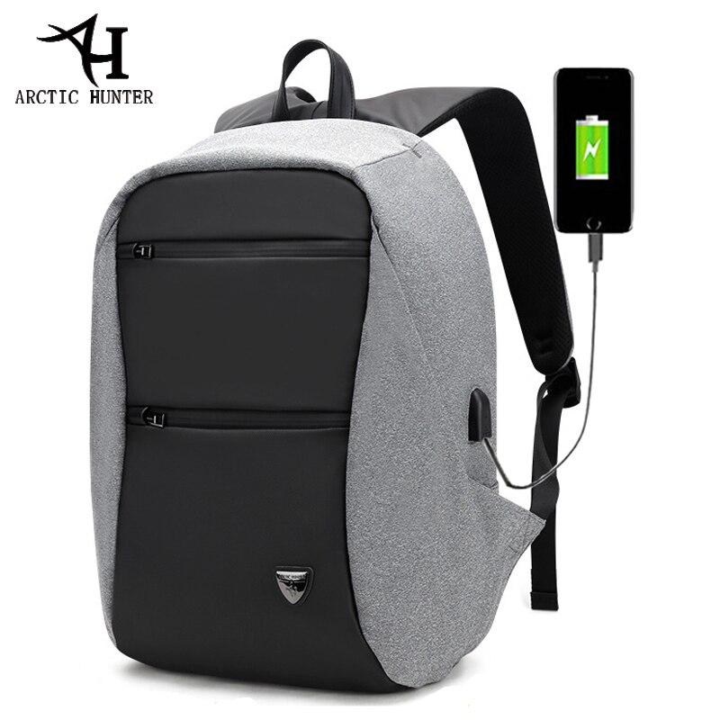 Arctique HUNTER 15.6 pouces USB étanche Anti-vol ordinateur portable hommes Sport voyage affaires sac à dos cartable Pack pour homme