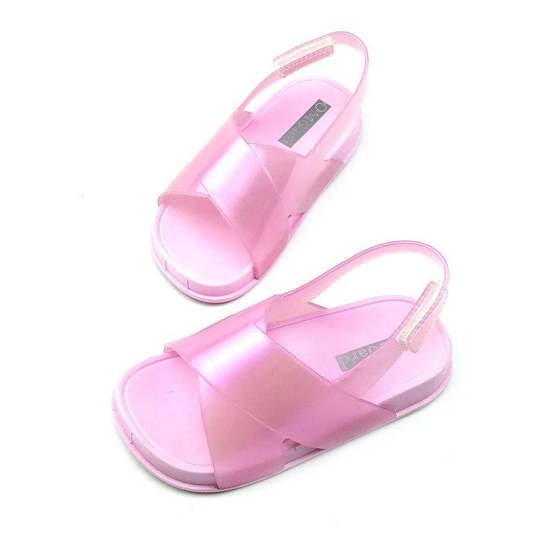 Mini Melissa Beach Slide Sandal Girl Sandals 2020 Jelly Sandals Kids Sandals Children Beach Shoes Non-slip Toddler Shoe