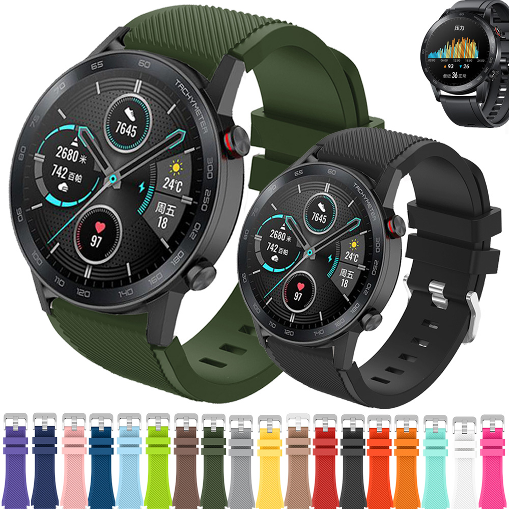 20 Colors Strap For Huawei Honor Magic Watch 2 GT GT2 GT 2 46mm 22mm Watch Band Bracelet Silicone Sport Replacement Watchbands