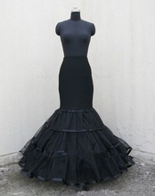 New Arrival Black Mermaid Wedding Dress Petticoat Crinoline Full Slip