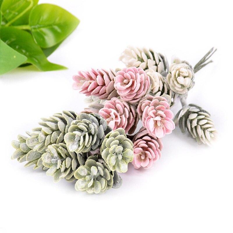 Simulation Flowers Artificial Pine Cone Christmas Decoration Faux Plants