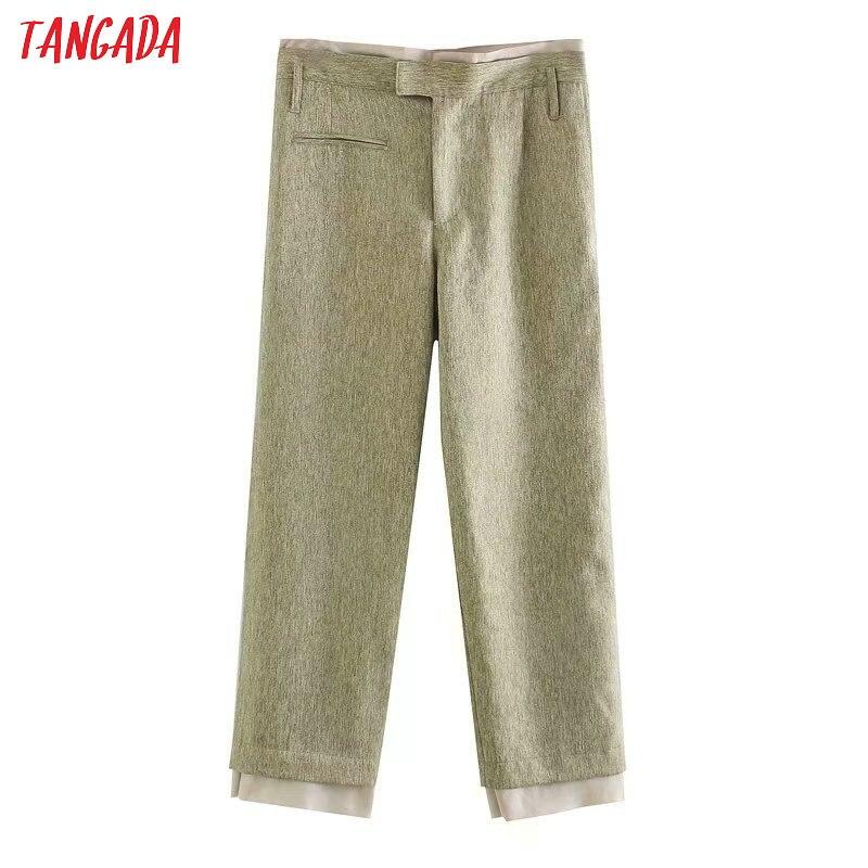 Tangada fashion women summer thin suit pants trousers 2020 new office lady long pants pantalon 5Z177