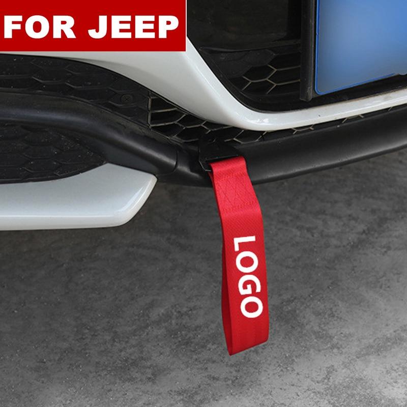 Модный новый автомобиль-Стайлинг тяжелый буксировочный трос автомобильный буксировочный ремень бампер прицеп веревка для логотип Jeep Renegade