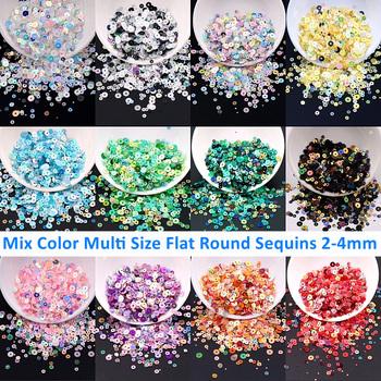 2500 sztuk Mix rozmiary 2-4mm Flake konfetti płaskie okrągłe cekiny Paillettes Glitters dla DIY Nail Art i rękodzieło ślubne akcesoria do szycia tanie i dobre opinie goodbeads CN (pochodzenie) ROUND 6mm zwierzę domowe Mix 2-4mm Flat Sequins Tak ( 50 sztuk) 0 1mm Bags DO ODZIEŻY