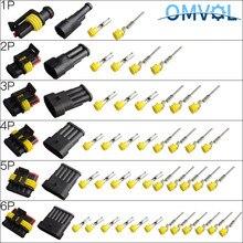 1 комплект 1/2/3/4/5/6 штыри AMP супер печать Водонепроницаемый Электрический провод 1,5 разъем для автомобиля