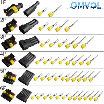 1 zestaw 1 2 3 4 5 6 pins Way AMP super uszczelnienie wodoodporny przewód elektryczny 1 5 złącze wtykowe do samochodu tanie i dobre opinie 1P2P3P4P5P6P