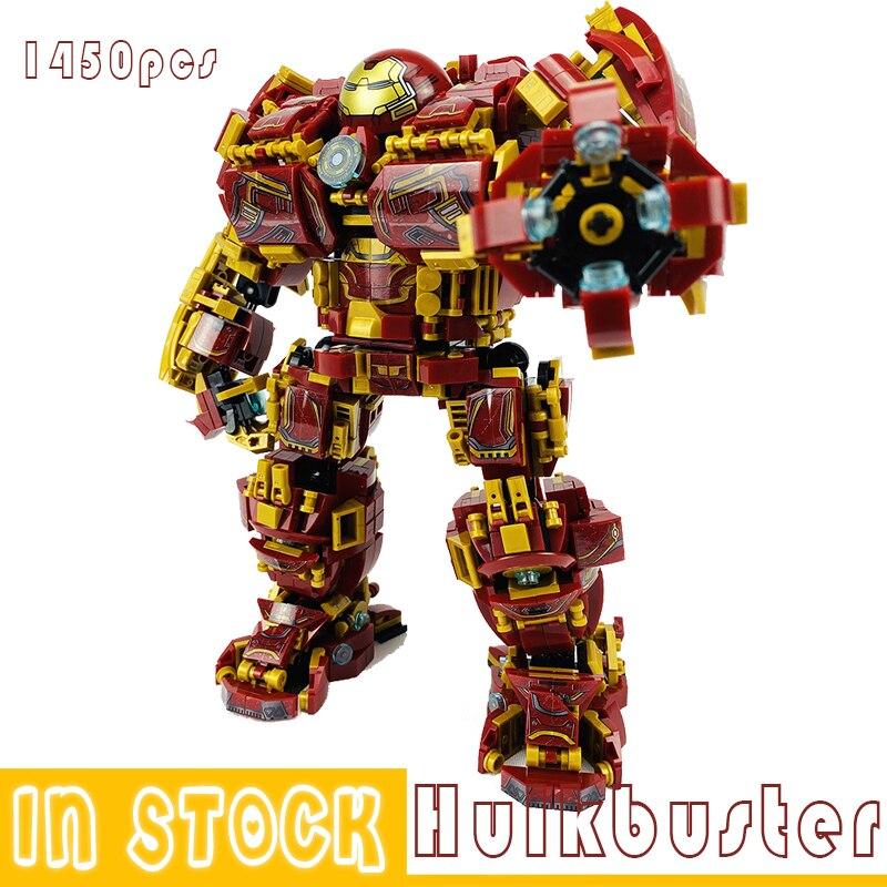 Marvel Iron Man Hulkbuster War Machine Building Blocks Super Heroes Avengers Infinity War Superheroes Children Kids Toys Gifts