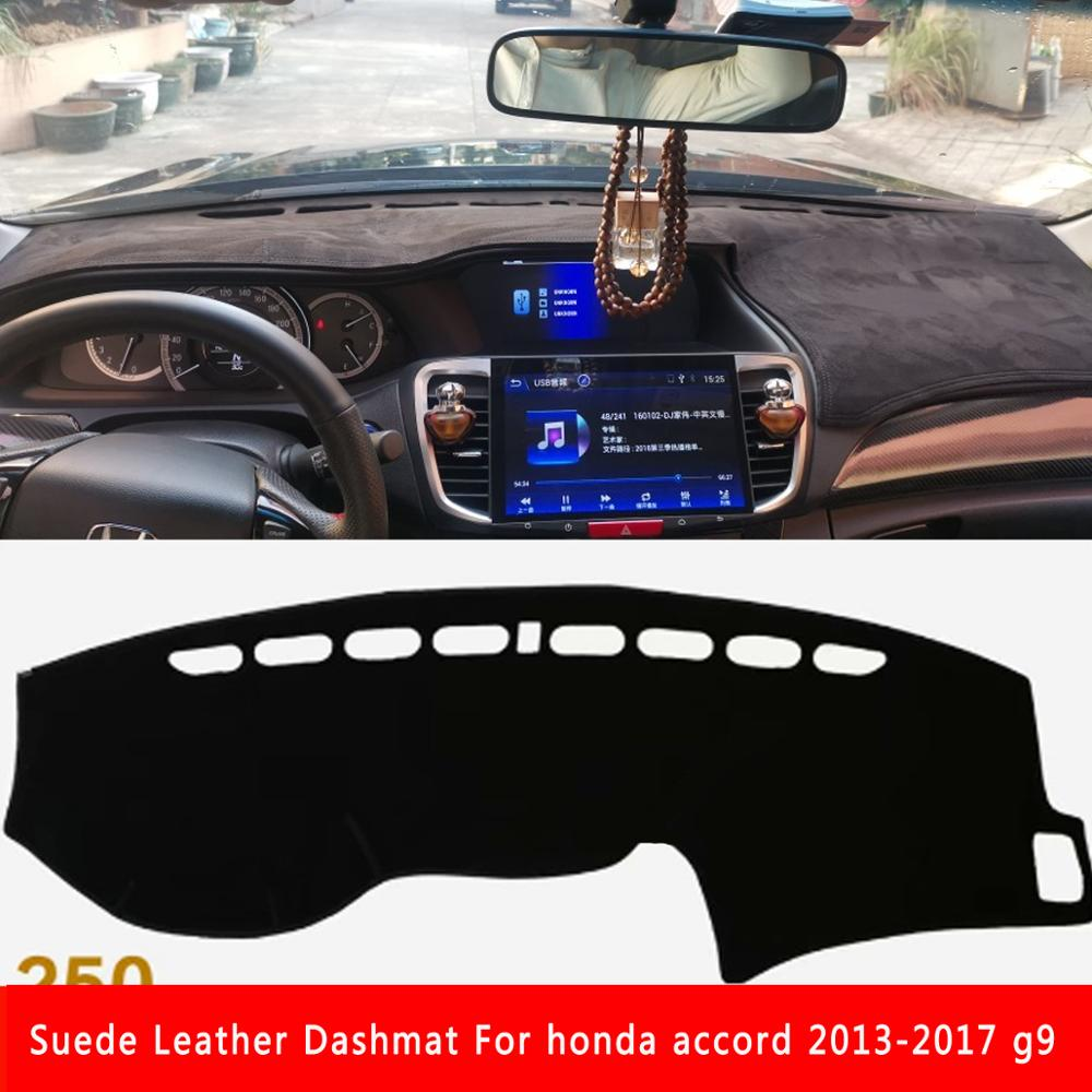 For Honda Accord 2013 2014 2015 2016 2017 G9 Suede Leather Dashmat Dashboard Cover Pad Dash Mat Carpet Car-styling