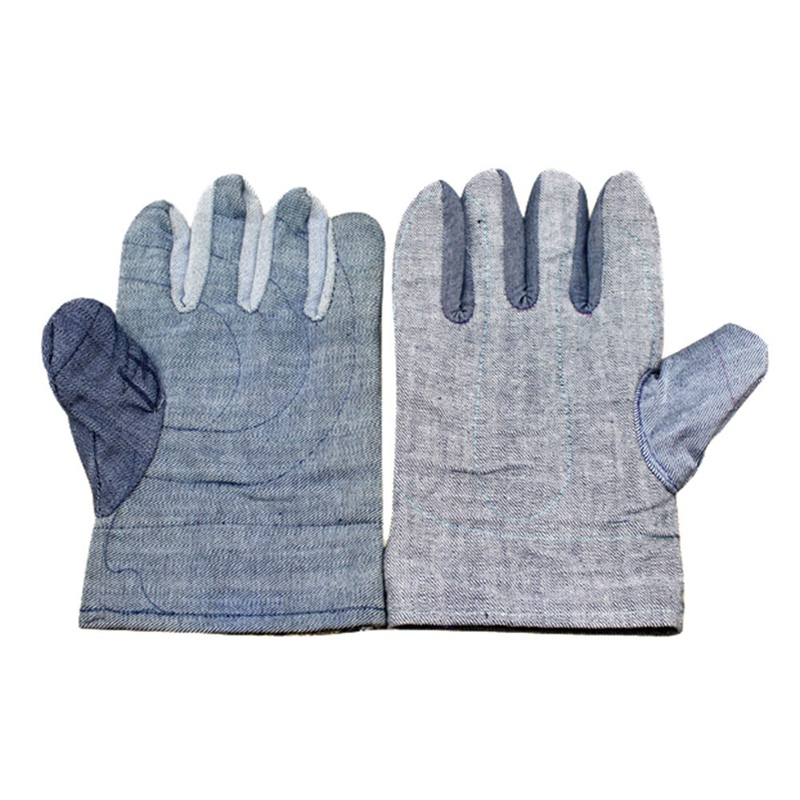 Thickened Denim Velvet Gloves Labor Protection Safety Gloves Wear-resistant Anti-skid For Industrial Work