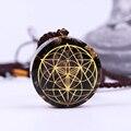 Семя жизни древний ОРГОН энергия кристалл кулон чакра символ оргонита транспорта ожерелье натуральный камень Рейки Исцеление
