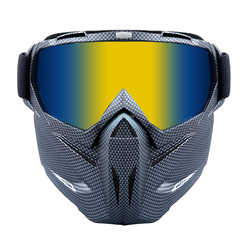 Tactical Detachabke Mask Goggles Windproof Bike Motorcycle Riding Mask Airosft Paintball Masks Shooting Protective Goggles