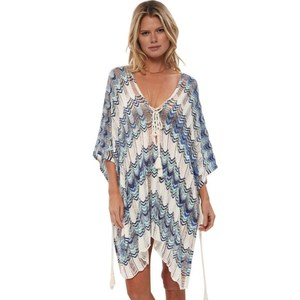 Image 3 - Oversize Crochet Beach Dress Cover up Sarong Kaftan Beach Tunic Plage Bathing suit cover ups Pareo Beach Bikini Cover up #Q776
