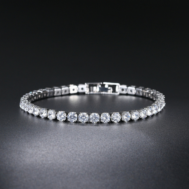 ZHOUYANG Tennis Bracelets For Women Simple Luxury Round Crystal Gold Color Bangle Chain Wedding Girl Gift Wholesale Jewelry H074 4