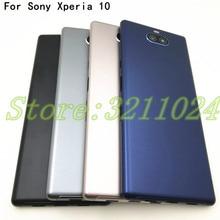 עבור Sony Xperia 10 בתוספת 10 I3123 I3113 I4113 שיכון סוללה כיסוי דלת אחורי כיסוי מארז מסגרת חזרה כיסוי מקרה דיור + לוגו