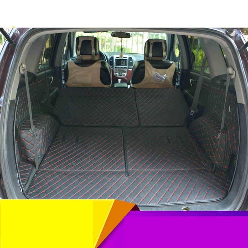 lsrtw2017 for Hyundai santa fe car trunk mat cargo liner 2006 2007 2008 2009 2010 2011 2012 Inokom styling carpet rug luggage